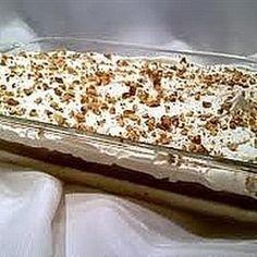 Mississippi mud pie, a la Chau-Cha. This creamy, chocolate pie has a walnut crust.
