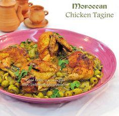 Food Lover مطبخ جوليا العرب: Moroccan Chicken Tagine طاجين الدجاج المغربي باللي...