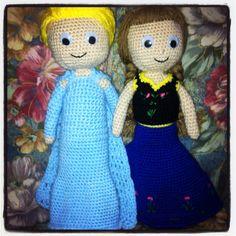 Elsa ed Anna ad amigurumi