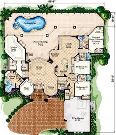 Mediterranean House Plan   #ALP 0894 ...