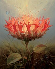 Vladimir Kush Fiery Dance oil painting for sale; Select your favorite Vladimir Kush Fiery Dance painting on canvas or frame at discount price. Vladimir Kush, Salvador Dali Gemälde, Salvador Dali Paintings, Kunst Online, Surrealism Painting, Artist Painting, Ouvrages D'art, Amazing Art, Fantasy Art