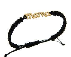 Macrame mama bracelet silver 925