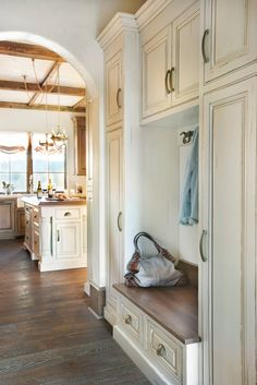 beautiful mudroom by Panageries