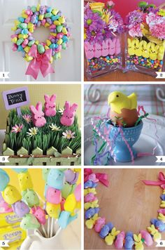 Peeps decoration ideas for Easter  ~~  @Rachel Jessie - here you go, baby girl!  These would all be PERFECT for you!! ;)