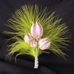 Love in a Mist Boutonniere by Eco-Lectic Events