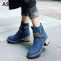 ASILETO denim boots bota feminina ankle boots women boots cowboy denim high heels shoes sexy women shoes woman booties S722  Price: 31.96 & FREE Shipping  #fashion|#sport|#tech|#lifestyle High Heels, Shoes Heels, Denim Boots, Cowboy Boots Women, Sexy Women, Ankle Boots, Booty, Woman, Tech