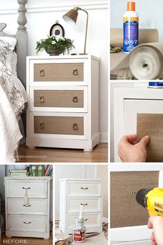 How To Add Wallpaper to Furniture | Easy to follow tutorial! | Salvaged Inspirations