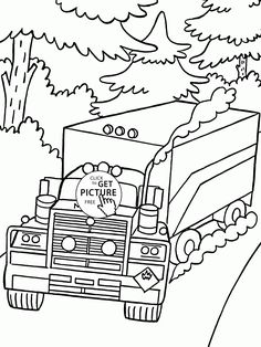 Truck Mack On The Road Coloring Page For Kids Transportation Pages Printables Free
