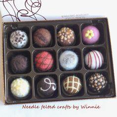 Nadel Gefilzte immerwährenden Schokolade von FunFeltByWinnie