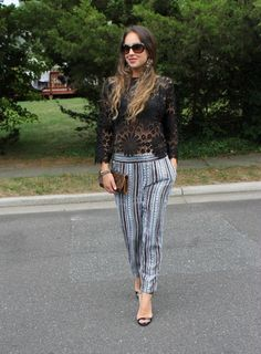 How to mix prints, how to style pajama pants, ella moss, stella dot, steve madden, womens fashion
