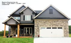 Rempfer Construction, Inc. Energy Saving Tips, Save Energy, Stone Siding, Top Place, Stone Veneer, Front Design, House Design, Design Homes, Shed