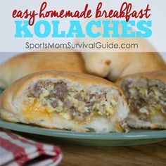 Looking for something different for breakfast? Try these easy homemade Sausage and Egg Breakfast Kolaches. Works as a great grab-and-go meal or you can even make up a big batch, freeze and pull out a few at a time!