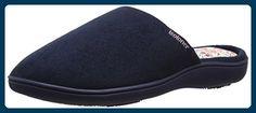Isotoner Damen Pantoffeln Pantoffeln Isotoner Suedette Mule Slippers, blau (marineblau), Gr. 37 (UK: 4) - Hausschuhe für frauen (*Partner-Link)