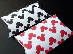 Mickey Mouse Pillow Boxes , Party Favor Box, Gift Box, Treat Box | WildvineUnlimited - Paper/Books on ArtFire