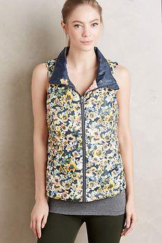 Anthropologie EU Pure + Good Fleur Reversible Vest