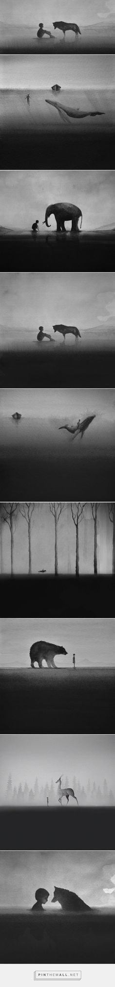 Black And White Watercolors Painting by Elicia Elidanto | 99inspiration - created via http://pinthemall.net