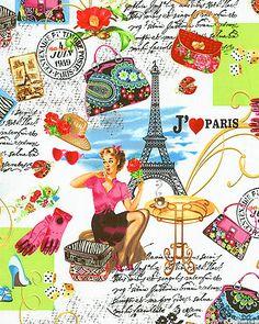 April in Paris - J'adore Paris - White