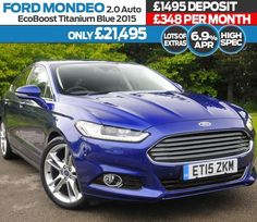"Take a look at this Special offer from our Ford Direct team. A fully kitted out Mondeo  lots of extras! https://www.jenningsforddirect.co.uk/used/view/ford/mondeo/reg/et15zkm/ 19"" Alloy Wheels Privacy Glass Titanium X Pack Cruise Control Auto Headlights and Wipers Climate Control Air Conditioning Blind Spot Information System (BLIS) Sports Suspension Power Tailgate https://www.jenningsforddirect.co.uk/used/view/ford/mondeo/reg/et15zkm/"