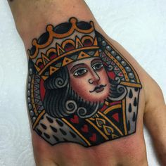 And the final product, King of hearts. Gracias Tamara! Next time the queen #lefthandtricks #sevendoorstattoo #bullcatrotary #33balm