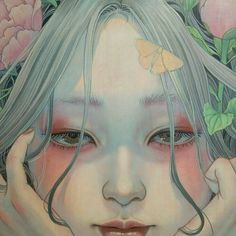𝕴𝖈𝖊𝖑𝖆𝖓𝖉 𝕱𝖔𝖝 Portrait Art, Portraits, Art Sketches, Art Drawings, Illustrations, Illustration Art, Art Asiatique, Poses References, Japan Art