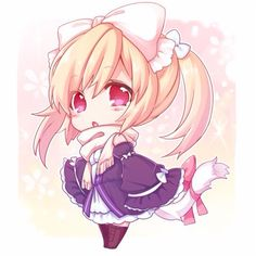 grafika anime girl, chibi, and fanart Anime Neko, Got Anime, Cute Anime Chibi, Manga Cute, Manga Anime, Anime Art, Chibi Kawaii, Loli Kawaii, Anime Kawaii