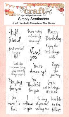 Simply Sentiments stamp set