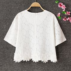 2016 New fashion Plus Size Summer Women Blouse Lace White Casual Shirts Tops Clothes chiffon Blusas femme Floral-in Blouses & Shirts from Women's Clothing & Accessories on Aliexpress.com | Alibaba Group