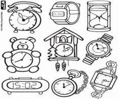 Výsledek obrázku pro hodiny omalovánka Puzzles, Clock, Education, Watches, Children, Places, Baby, Geography Activities, Print Coloring Pages