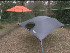 Camping In A State Of Suspension -- A Suspended Tent That Is