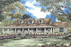 Country Style House Plans - 1921 Square Foot Home , 1 Story, 3 Bedroom and 3 Bath, 2 Garage Stalls by Monster House Plans - Plan 12-506