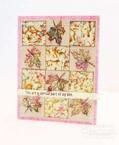 Tami shares a card sketch inspired by beautiful autumn toned quilts. Check it out! | September Card Sketch: Stamping with Izink