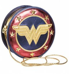 Wonder Woman Shield Crossbody Bag for sale online Shoulder Purse, Crossbody Shoulder Bag, Crossbody Bag, Wonder Woman Logo, Hermes Handbags, Purses And Handbags, Leather Handbags, Metallic Handbags, Clutch