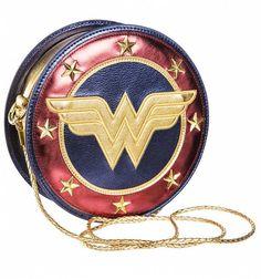 Metallic Wonder Woman Shield Cross Body Bag