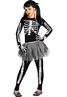 White Skeleton Costume - Child