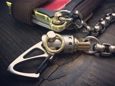 Edc Wallet, Wallet Chain, Front Pocket Wallet, Everyday Carry, Brass Chain, Key Rings, Contour, Leather Wallet