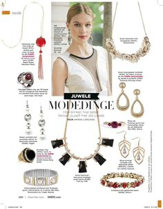 Beautiful white and gold trim top featured in #Sarie magazine