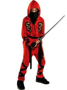 Boys Red Ninja Costume - Party City