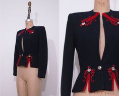 1940s navy blue Lanz Original blazer / Vintage 40s by Ainshent, $129.00
