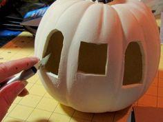 Pumpkin Carriage / Suzys Sitcom craftsy Artsy # artesanías de papel