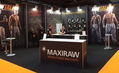 Good example of big 4m high graphics on this 7m x 5m stand at Bodypower, NEC.