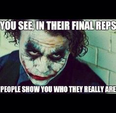 You see in their final reps people show you who they really are. #Sports #Gym #Humour Check out my Jiu Jitsu, Boxing and MMA articles, workouts and more on http://thefightmechanic.com