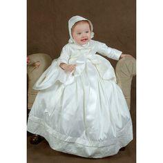 Ginny Heirloom Silk Christening Jacket by OneSmallChild on Etsy, $165.00