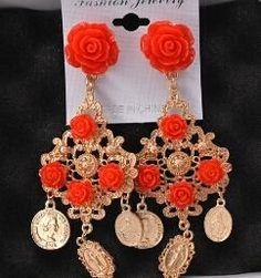 Show Big Brand Retro Baroque Queen Earrings Vintage Dangle Drop Earrings Women Jewelry