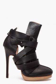 kris van assche wrap heels