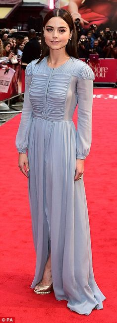 Emilia Clarke wears a lemon yellow gown at the Me Before You European premiere | Daily Mail Online