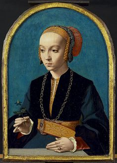 Elisabeth Bellinghausen  Barthel (Bartholomäus) Bruyn (1493 - 1555) - beautiful belt buckle