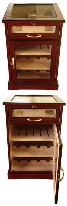 Cuban Crafters Wine And Cigars Cabinet Humidor End Table Humidor