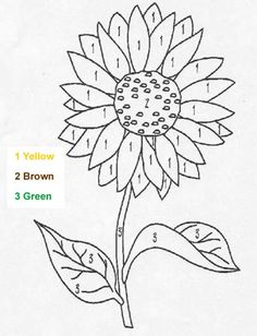 Flower Color By Number Coloring Page Free NATURE Pages Available For Printing Or Online