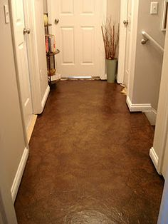 jf~ I would like to try this.... Paperbag flooring