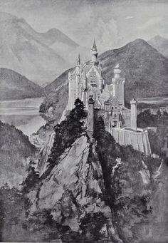 Germany Castles, Neuschwanstein Castle, Bavaria Germany, Forts, Tudor, Towers, Animal Kingdom, 3, Illustrations